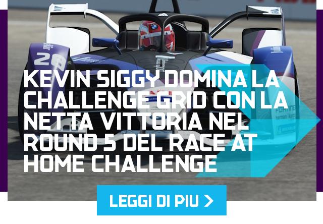 Kevin Siggy domina la Challenge Grid con la netta vittoria nel Round 5 del Race at Home Challenge