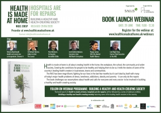 Book Launch: Health is made at home, hospitals are for repairs