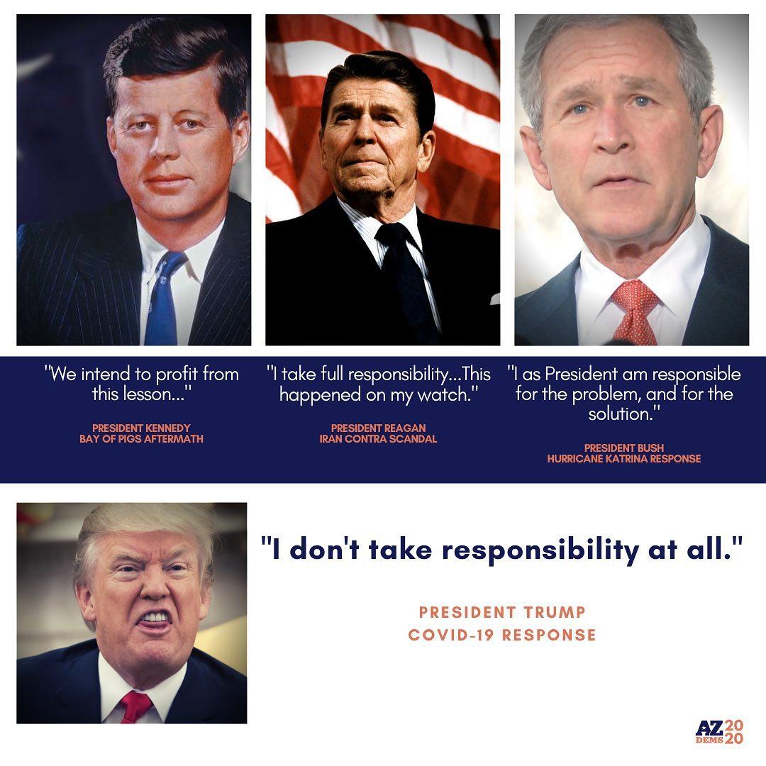"""I don't take responsibility at all."" -President Trump COVID-19 Response"