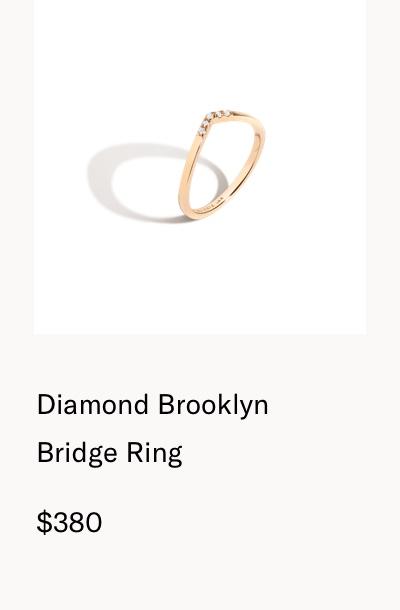Diamond Brooklyn Bridge Ring