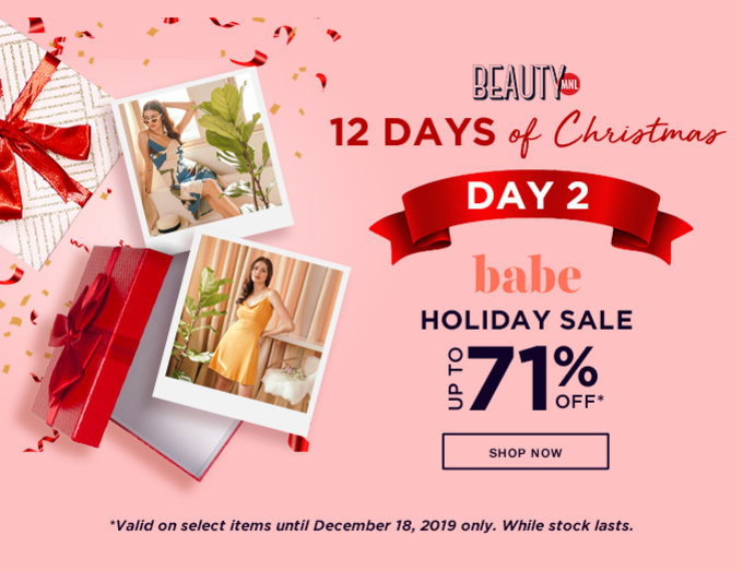 BABE HOLIDAY SALE | Up to 71% OFF | SHOP NOW >>
