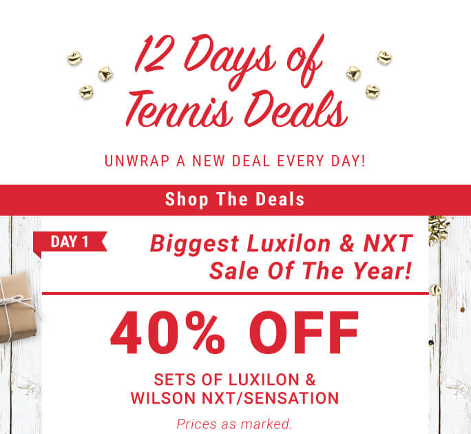 12 Days of Deals Day 1 Wilson and Luxilon String