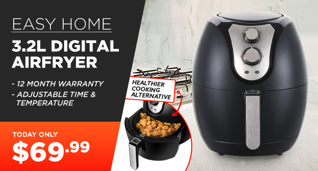 Easy Home 3.2L Large Air Fryer