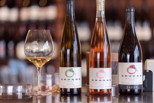 Image of three bottles of Brooks wines.