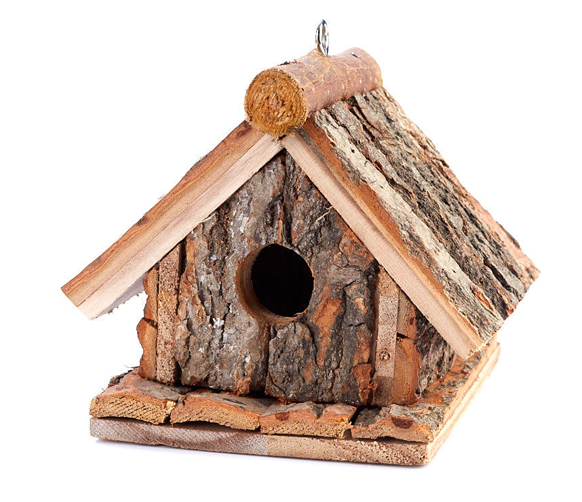 Rustic Tree Bark Birdhouse
