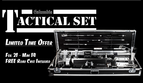 Free Road Case with purchase of Columbia Tactical Set