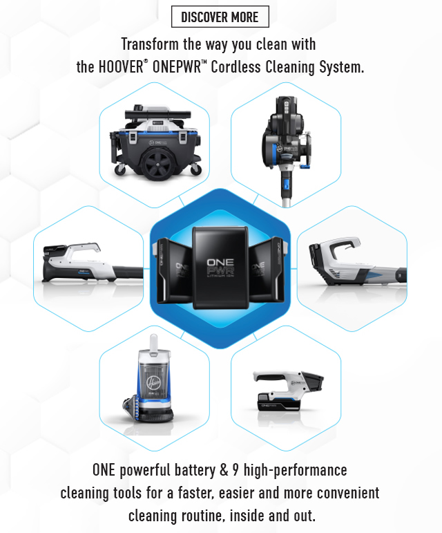 Transform the way you clean with the Hoover ONEPWR Cordless Cleaning System