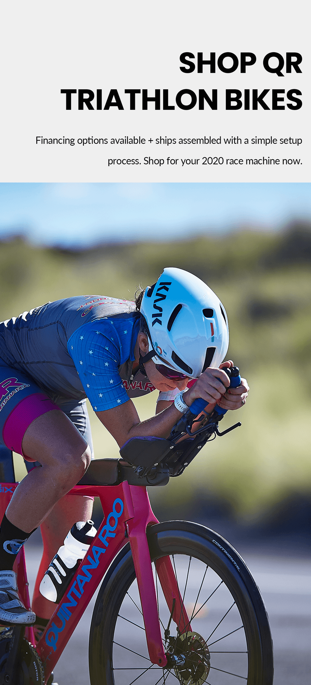 Shop Quintana Roo triathlon bikes: financing options available + ships assembled with a simple setup process. Shop for your 2020 race machine now.