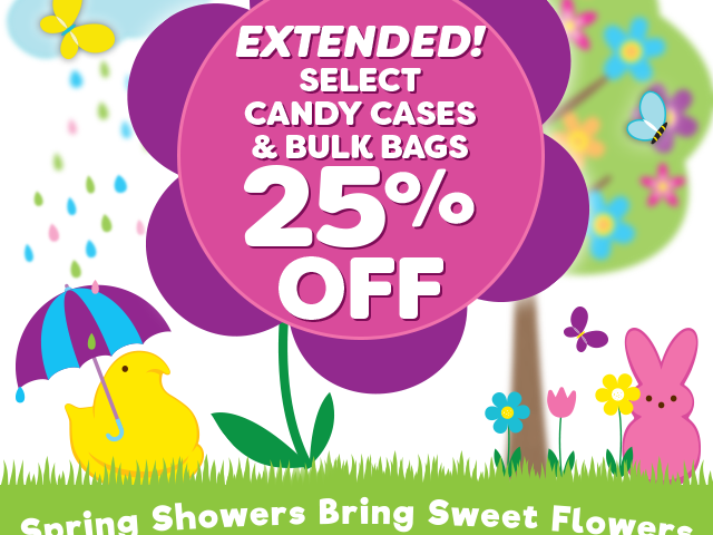 EXTENDED - Select candy cases & bulk bags - 25% off