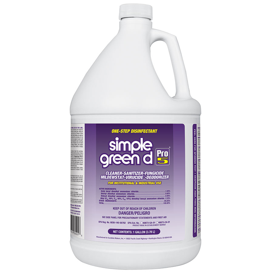 Simple Green® d Pro 5 One?Step Germicidal Cleaner and Deodorant