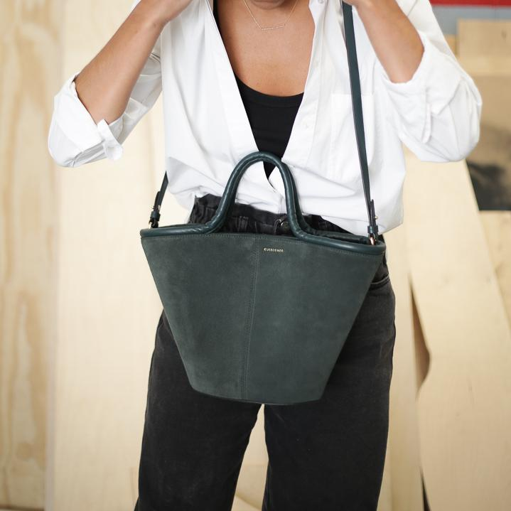 Classic Tote - Forest Suede Sale (ONLY 1)