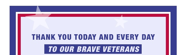 Thank you today and every day to our brave veterans for their selfless sacrifices to protect us all