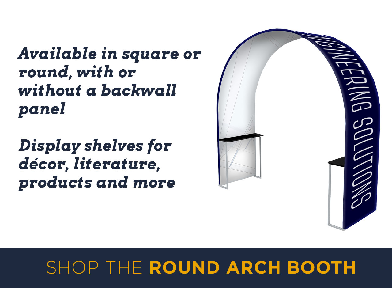 Available in square or round, with or without a backwall panel. Display shelves for decor, literature, products and more