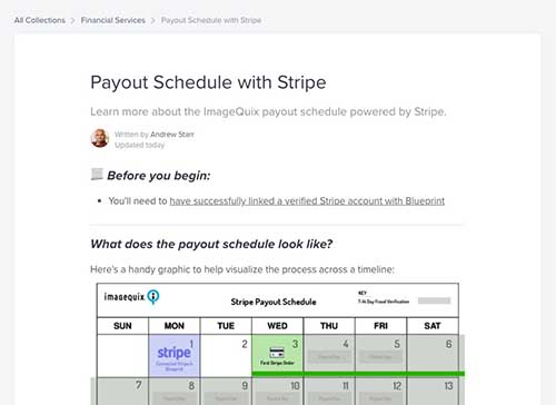 Stripe payout schedule for US & CA