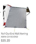 Roll Out End Wall Awning