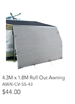 4.3 x 1.8m Roll Out Awning
