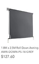 1.8m x 2.5m Roll Down Awning