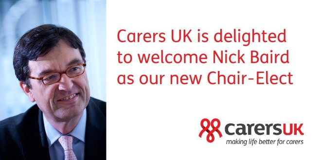 Nick baird appointed chair elect of Carers UK