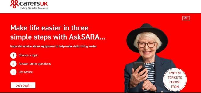 AskSARA Carers UK logo