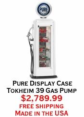 Pure Display Case Tokheim 39 Gas Pump