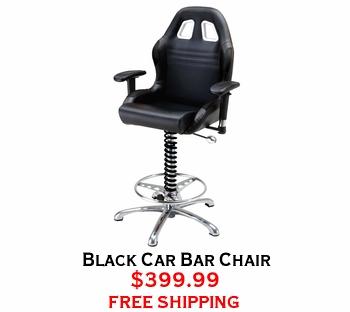 Black Car Bar Chair