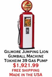 Gilmore Jumping Lion Gumball Machine Tokheim 39 Gas Pump