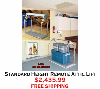 Standard Height Remote Attic Lift