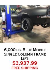 6,000 lb. Blue Mobile Single Column Frame Lift