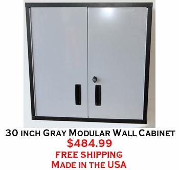 30 inch Gray Modular Wall Cabinet