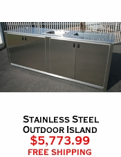 Stainless Steel Outdoor Island