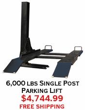 6,000 lbs Single Post Parking Lift