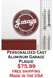 Personalized Cast Aluminum Garage Plaque