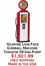 Gilmore Lion Face Gumball Machine Tokheim 39 Gas Pump