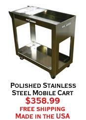 Polished Stainless Steel Mobile Cart