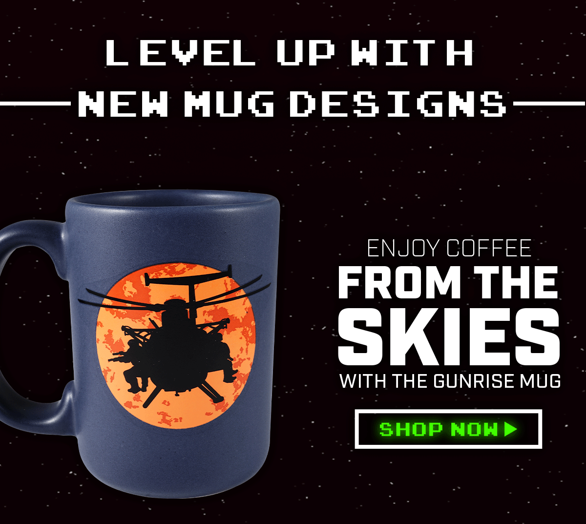 Level Up with New Mug Designs