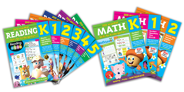 Reading Eggs workbooks in Reading and Math