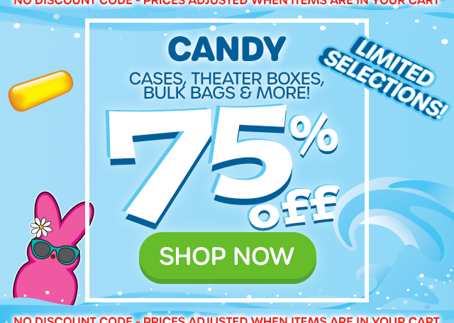 CANDY - Cases, Theater Boxes, Bulk Bags & More - 60% off - SHOP NOW