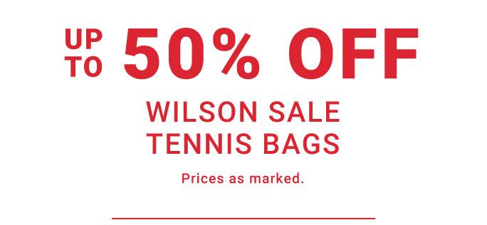 50 Percent Off Wilson Wilson Tennis Bags