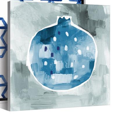 Blue Pom by Linda Woods