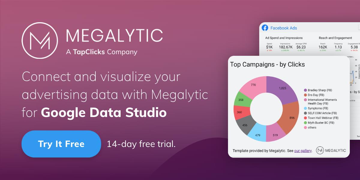 Megalytic for Google Data Studio. Try it Free