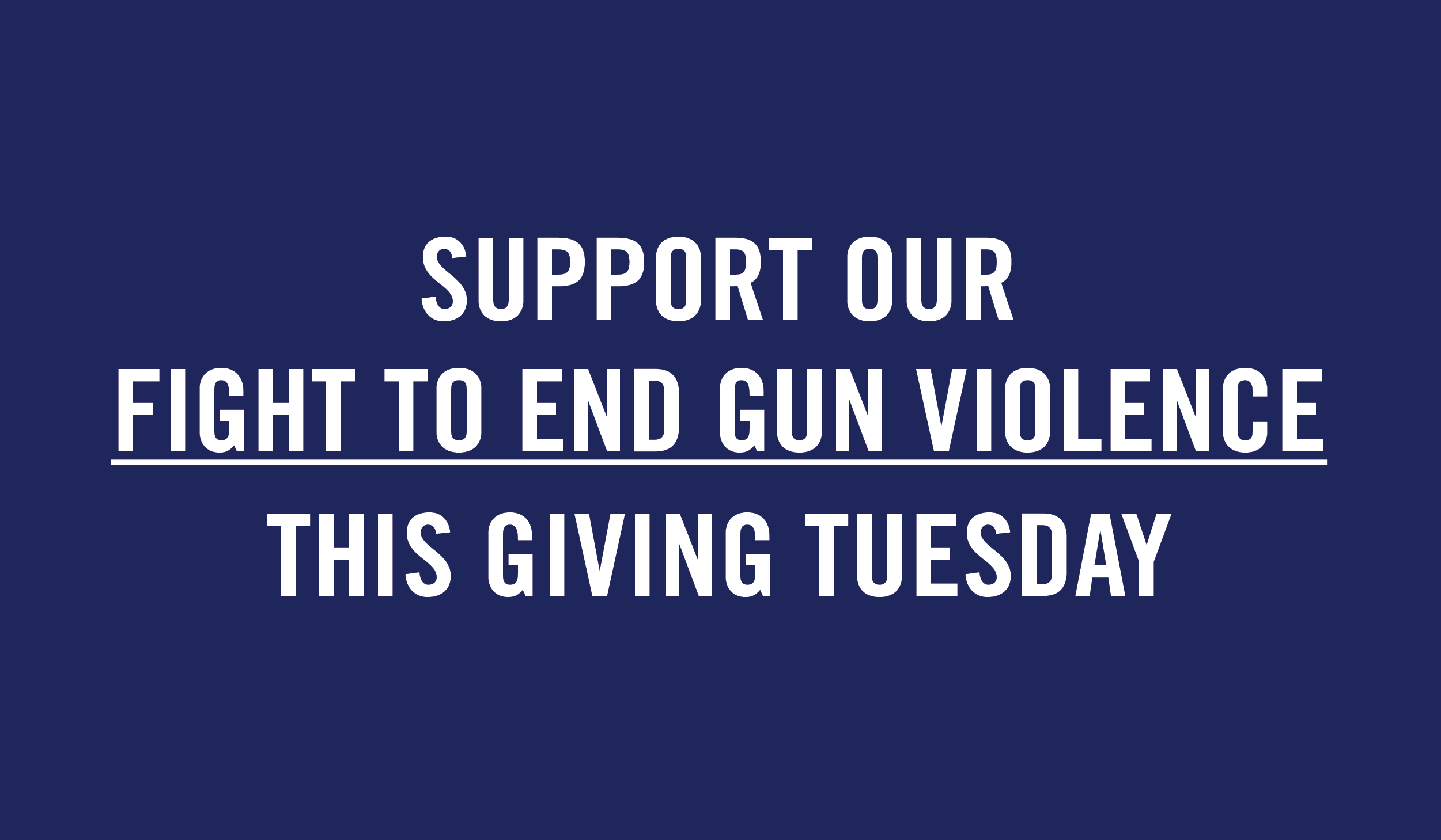 Support Our Fight to End Gun Violence This Giving Tuesday