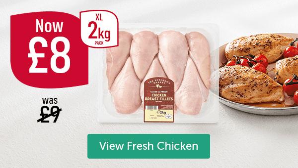 Was �Now �Chicken Breast Fillets XL 2kg Pack View Fresh Chicken