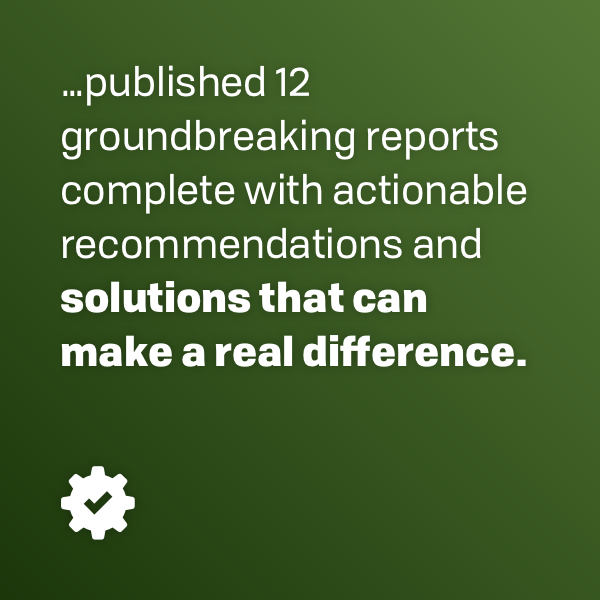 published 12 groundbreaking reports