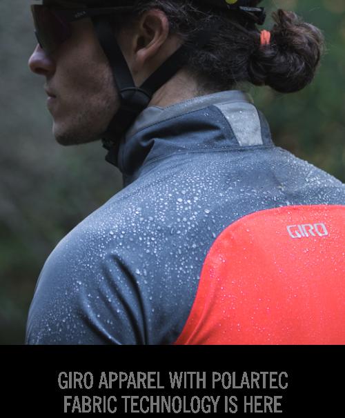 Rider wearing Giro Chrono Pro Neoshell Jacket