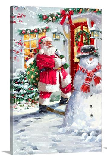 Santa At Door
