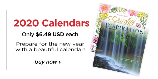 Prepare for the new year with a beautiful calendar!