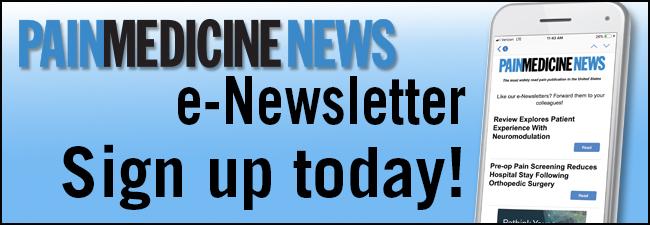 PainMedicine News: eNewsletter