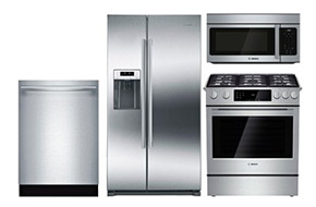 Shop Bosch 36 Side-By-Side Refrigerator with Gas Range Package