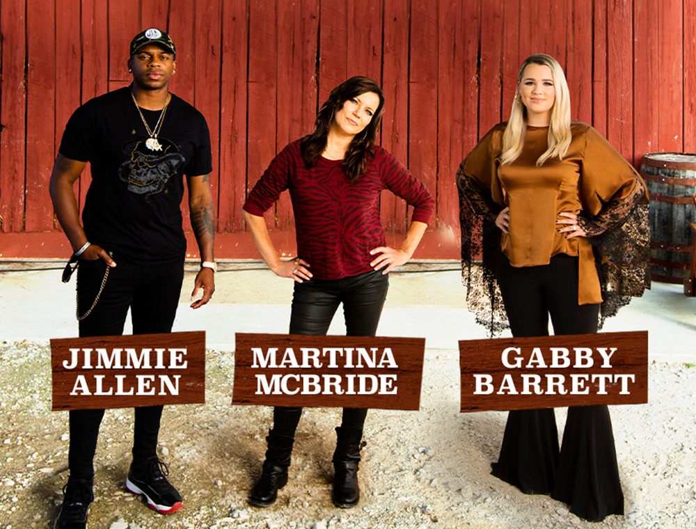 Martina McBride, Gabby Barrett and Jimmie Allen