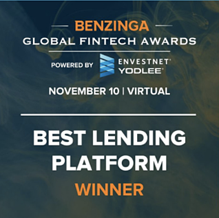 GROUNDFLOOR was named the Best Lending Platform by Benzinga!
